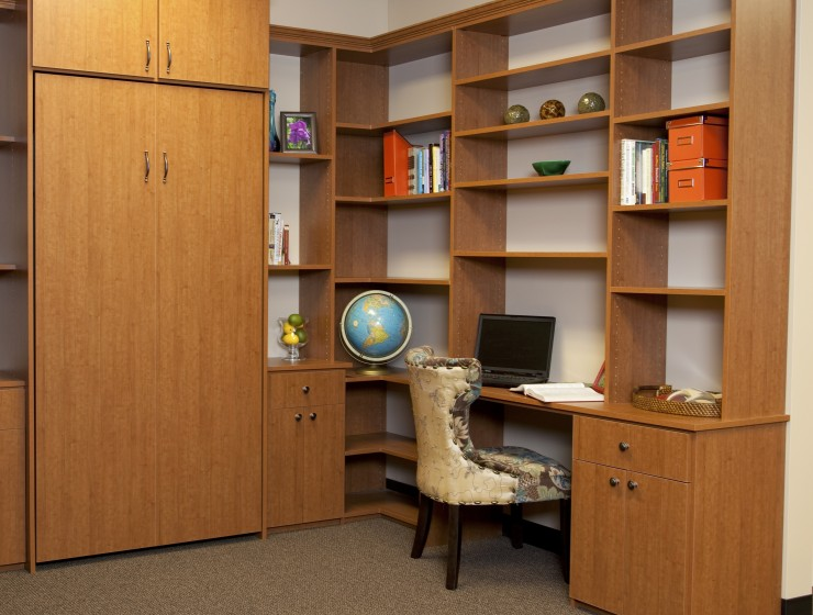 Wall Bed Bookcase & Desk