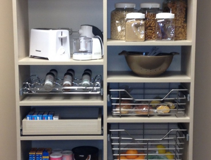 Pantry with Baskets and pull-out shelves