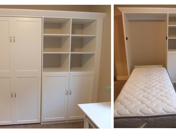 Twin Wallbed with storage